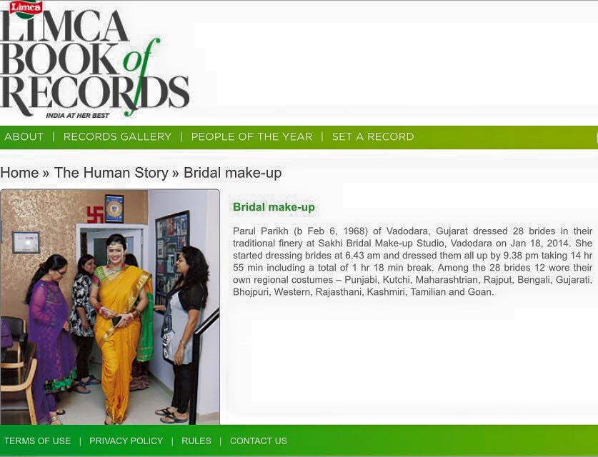 Limca book of world record